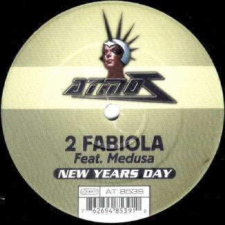 "2 Fabiola Feat. Medusa - New Years Day VG+ - 12"" Single 1999 Atmoz Belgium Press - Trance"