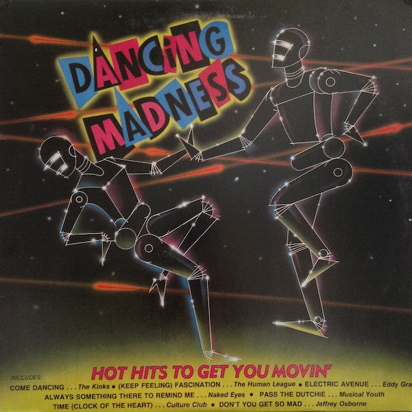 Various ‎– Dancing Madness - Mint- Lp Record 1983 K-Tel USA Vinyl - Synth-pop / Funk / Rock