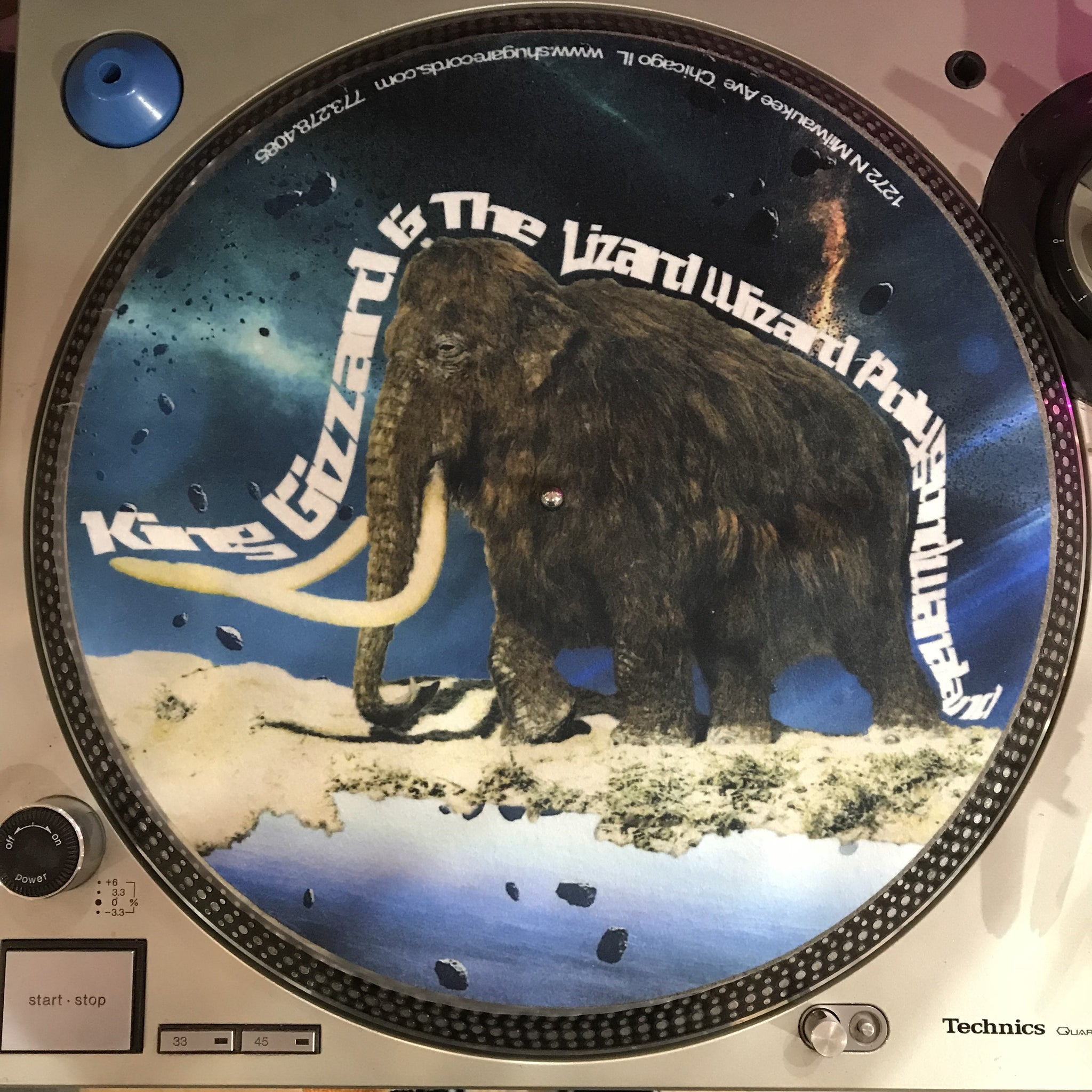 Shuga Records 2018 Limited Edition Vinyl Record Slipmat King Gizzard And The Lizard Wizard Polygondwanaland Space Mammoth 2