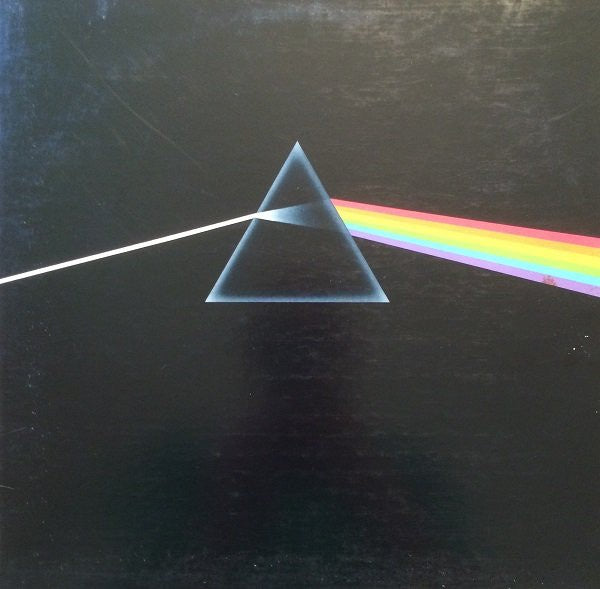 Pink Floyd ‎– The Dark Side Of The Moon - VG+ Lp Record 1988 Reissue (Orig. 1973) USA (Complete with Two Posters and Sticker Sheet) Original Vinyl - Rock / Prog Rock / Psychedelic