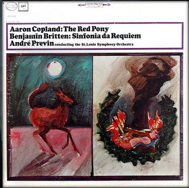 André Previn - Copland - The Red Pony / Britten - Sinfonia Da Requiem - Mint- Lp Record 1964 CBS USA Stereo Vinyl - Classical
