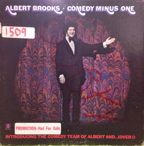 Albert Brooks ‎– Comedy Minus One - VG Lp Record 1973 ABC USA White Label Promo - Comedy