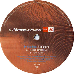 "Projections ‎– Backbone - VG+ 12"" Single 45 RPM USA 2003 - Chicago House"