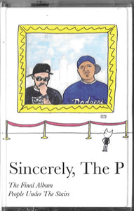 People Under The Stairs ‎– Sincerely, The P - New Cassette Album 2019 Piecelock 70 USA Yellow Tape - Hip Hop