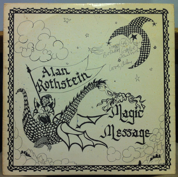 Alan Rothstein - Magic Message LP VG+ 41935 Private 1981 MA Folk Rock