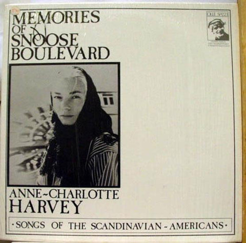 ANNE CHARLOTTE HARVEY memories of snoose boulevard LP VG Private 1972 Folk USA