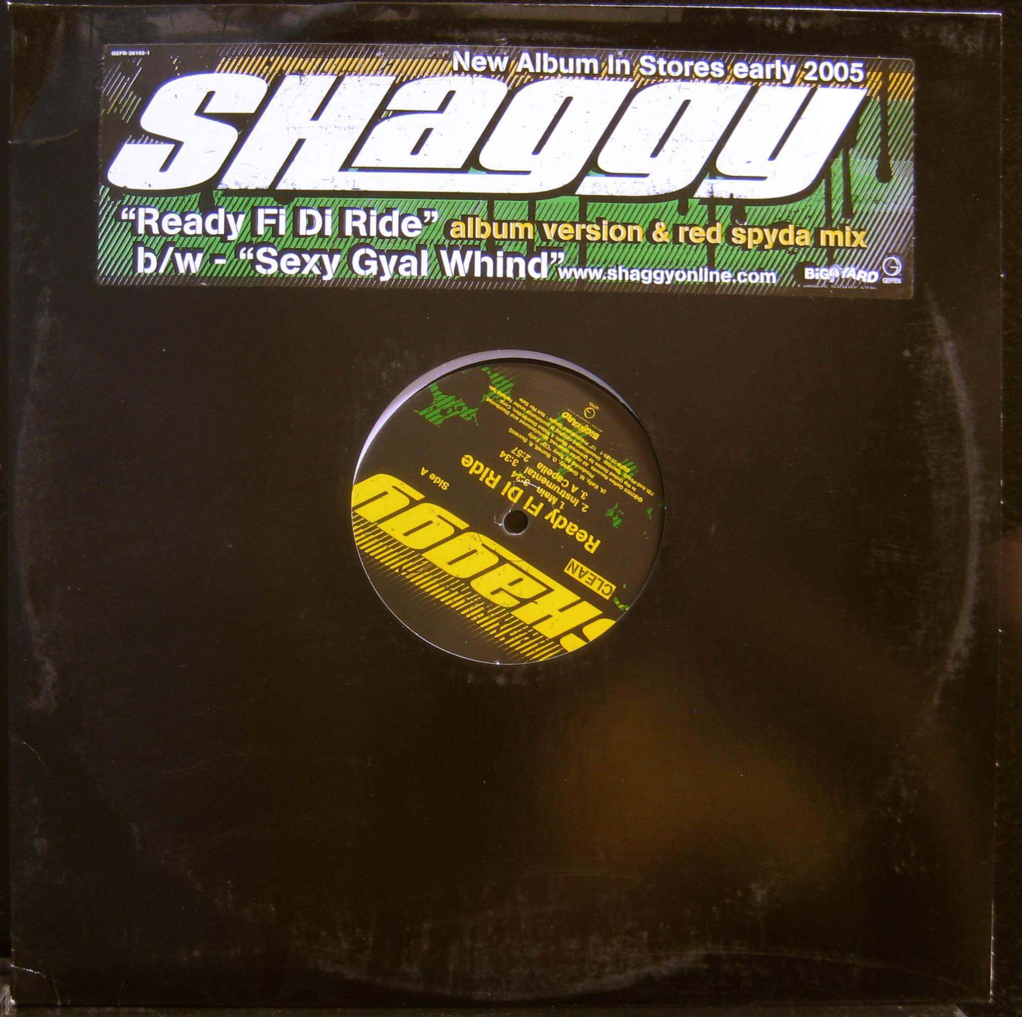 "Shaggy - Ready Fi Di Ride 12"" Mint- Promo GEFR 26192 1 Vinyl 2005 Record"