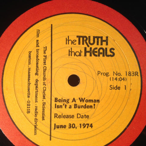 THE TRUTH THAT HEALS being a woman isn't a burden 1974 Christian Science Spoken