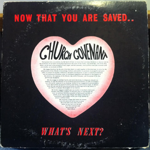 CHURCH COVENANT now that you are saved what's next LP VG+ Spoken Word Strange