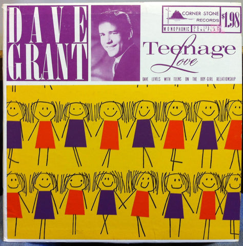 Dave Grant - Teenage Love LP VG+ DG 125 Crazy Spoken Word Samples Galore Record