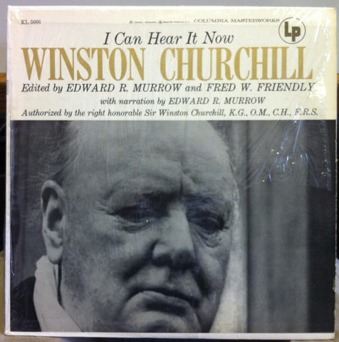 Winston Churchill - I Can Hear It Now LP VG+ KL 5066 w/Book Spoken Word 1st