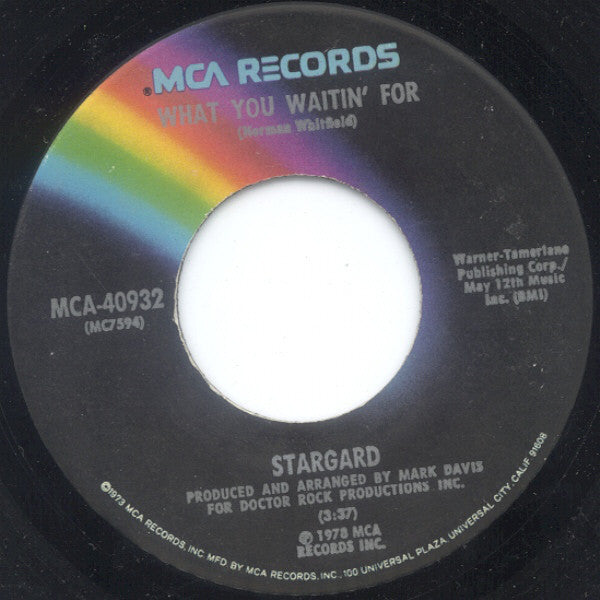 "Stargard - What You Waitin' For / Smile Mint- - 7"" Single 45RPM 1978 MCA USA - Disco"