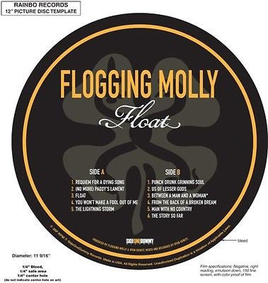 Flogging Molly - Float - New Vinyl Record 2007 Side One Dummy Picture Disc LP - Punk