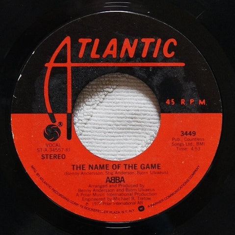 ABBA ‎– The Name Of The Game / I Wonder (Departure) - VG+ 45rpm 1977 USA - Pop