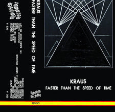 Kraus ‎– Faster Than The Speed Of Time - New Cassette 2017 Moniker Records US Reissue Black Tape - Electronic / Experimental / Noise