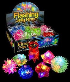 Fun Center Flashing Jelly Rings