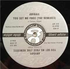 "Abigail - You Set Me Free (The Remixes) Mint- - 12"" Single 2001 Groovilicious USA - House"