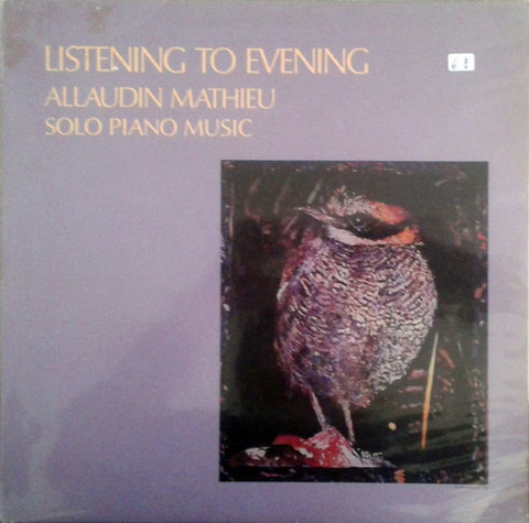 Allaudin Mathieu ‎– Listening To Evening - VG+ LP Record 1985 Sona Gaia Germany Vinyl - New Age
