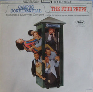 The Four Preps ‎– Campus Confidential: Recorded Live In Concert - Mint- Lp Record 1963 USA Stereo Original Vinyl - Pop / Vocal