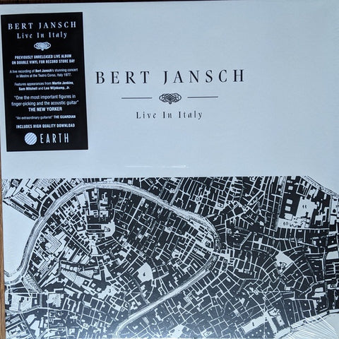 Bert Jansch ‎– Live In Italy (1977) - New 2 LP Record Store Day 2020 Earth UK Import RSD Vinyl & Download - Folk / Folk Rock
