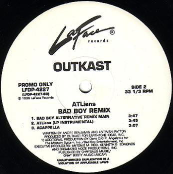 "OutKast - ATLiens (Bad Boy Remix) - VG 12"" Single USA 1996 Promo - Hip Hop"
