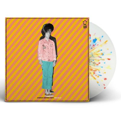 Ron Gallo - Stardust Birthday Party - New Vinyl 2018 New West 'Indie Exclusive' on 'Birthday Cake' Colored Vinyl (White with Blue, Green and Red Sprinkle Splatter) - Rock