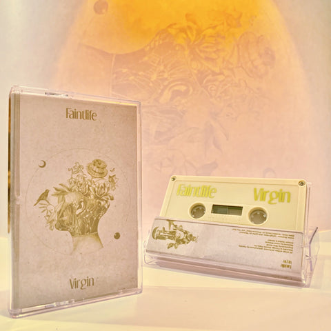 Faintlife - Virgin - New Cassette 2018 USA Ivory Colored Tape - Chicago Rock / Psych