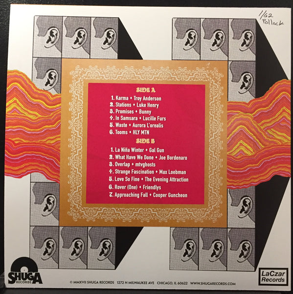 "Various Artists - Multi-Tone Chicago Vol. 1 : Max Loebman and Adam's Picks - New Vinyl 2017 Shuga Records ""Jackson Pollock"" Colorway Pressing of 62 Made! - Rock / Indie / Psych / Folk / Doom / Metal / Gnarrrrrr"