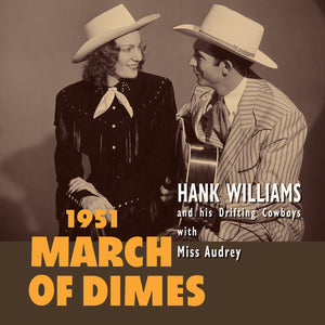 "Hank Williams - March Of Dimes (1951) - New 10"" Lp Record Store Day 2020 BMG Europe Import RSD Red Vinyl - Country"