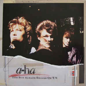 "a-ha - The un Always Shines On T.V. - VG+ 12"" Single 1985 Warner Bros. Records USA - Electronic / Synth-Pop"