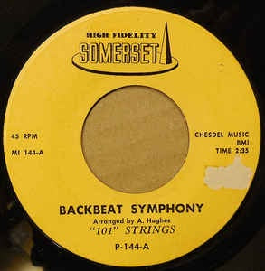"101 Strings ‎– Backbeat Symphony / Frankie And Johnny - VG+ 7"" Single 45RPM Somerset USA - Jazz"