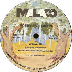 "Bobby Patterson - Groove Me VG+ - 12"" Single 1983 Malaco USA - Funk"