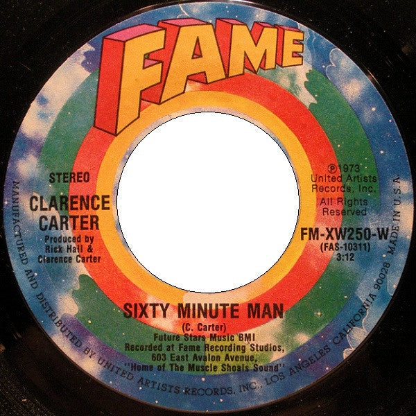 Clarence Carter – Sixty Minute Man / Mother-In-Law VG+ 7