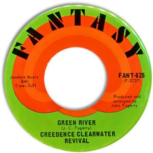 Creedence Clearwater Revival ‎– Green River / Commotion - VG+ 45rpm 1969 USA Fantasy Records - Rock / Classic Rock