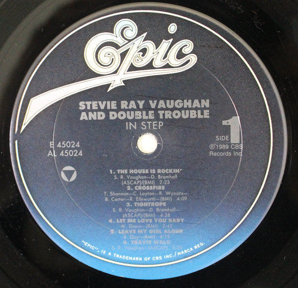 Stevie Ray Vaughan And Double Trouble - In Step - VG+ (No Original Cover) 1989 USA - Rock/Blues