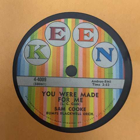 "10"" Sam Cooke - You Were Made For Me / Lonely Island VG+ 78 USA Kent 4-4009 Rare"