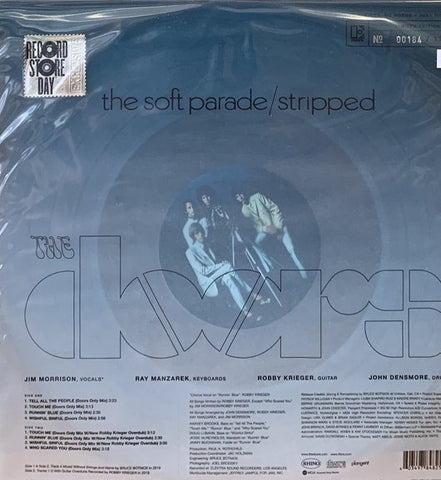 The Doors ‎– The Soft Parade: Stripped - New Lp Record Store Day 2020 Elektra USA RSD Clear Vinyl & Numbered - Rock / Blues Rock