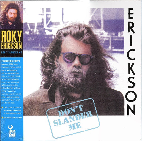 Roky Erickson ‎– Don't Slander Me (1986) - New Vinyl 2 Lp 2013 Light In The Attic Remastered Pressing with Gatefold Jacket and Download - Garage / Psych Rock
