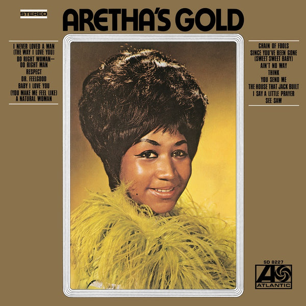 Aretha Franklin - Aretha's Gold - New Vinyl Lp 2019 Atlantic 'Start Your Ear Off Right' Compilation Reissue on Gold Vinyl - Soul