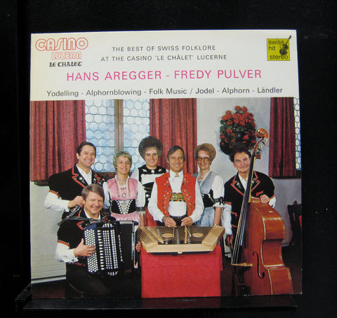 Aregger Pulver - The Best Of Swiss Folklore LP Mint- LP-542 Stereo Vinyl Record