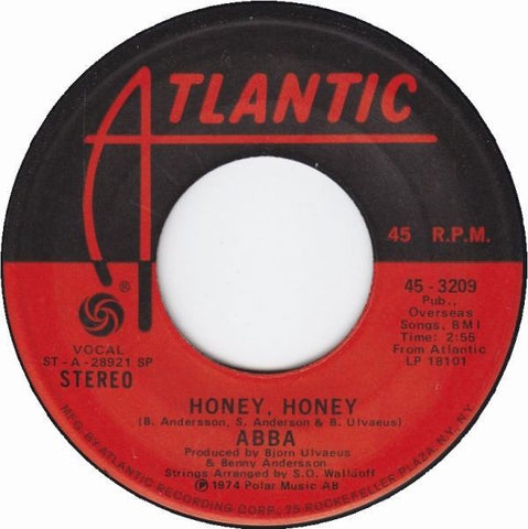 "ABBA ‎- Honey, Honey / Dance (While The Music Still Goes On) - VG+ 7"" Single 45 RPM 1974 USA - Pop / Europop"