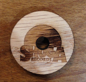 "Shuga Records - X Winchester Craft (Chicago / Portland)- Wood 45 RPM / 7"" Adapter - CUT AND ETCHED BY LIGHT AMPLIFICATION BY STIMULATED EMISSION OF RADIATION (lasers, bro)"