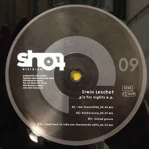 "Irwin Leschet ‎- P's For Nights E.P. - VG+ 12"" EP Germany 2000 Vinyl Record - Techno"