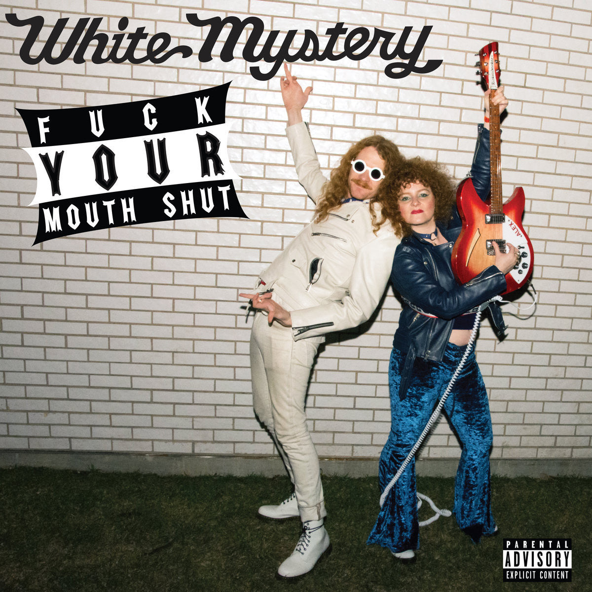 White Mystery ‎– Fuck Your Mouth Shut - New Vinyl Record 2017 White Mystery Pressing on Assorted Colors - Chicago, IL Garage Rock / Contemporary Punk
