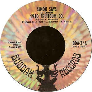 "1910 Fruitgum Company ‎– Simon Says VG+ 7"" 45 Single Record 1968 USA Vinyl - Pop"