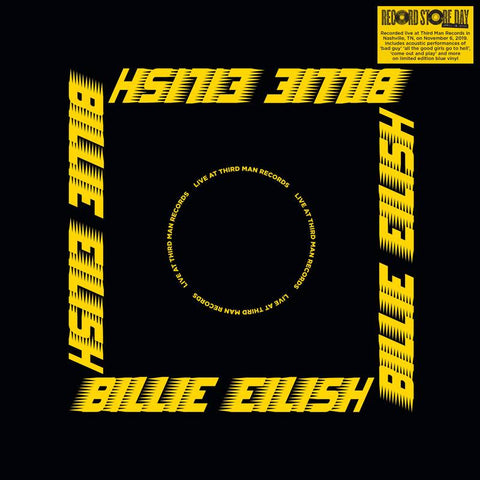 Billie Eilish - Live At Third Man Records (2019) - New LP Record Store Day 2020 Third Man USA Blue Vinyl & Poster - Indie Pop