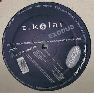 "T.Kolai ‎– Exodus - Mint 12"" Single Records 2003 UK Vinyl - Future Jazz / Downtempo"