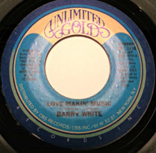 "Barry White - Love Makin' Music / She's Everything To Me VG+ - 7"" Single 45RPM 1980 Unlimited Gold USA - Disco"