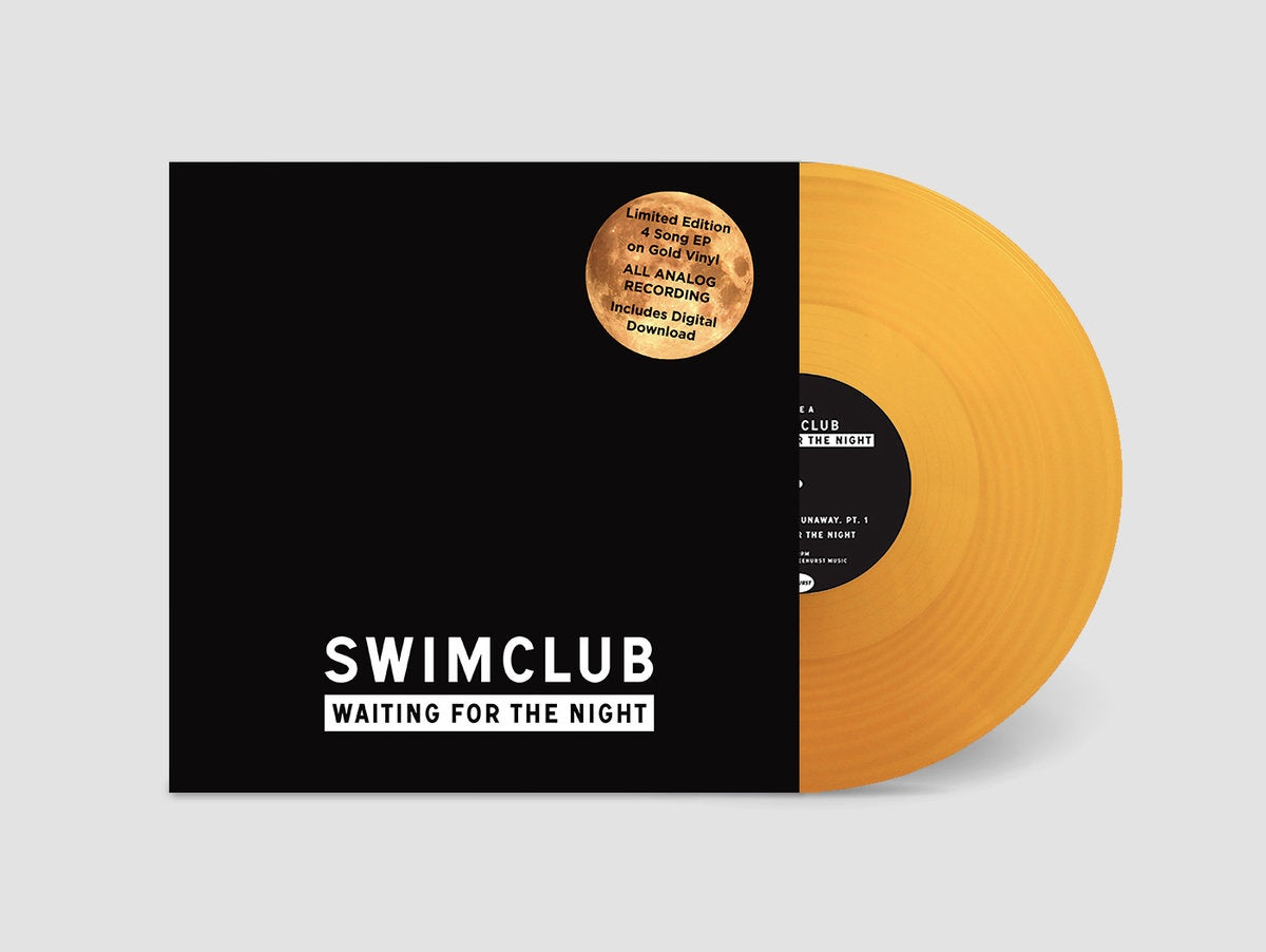 Swimclub - Waiting For The Night EP - New Record 2018 USA Clear Gold Vinyl  & Download - Brooklyn NY Indie Rock / Indie Pop