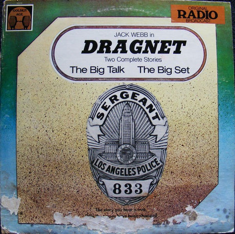 Jack Webb ‎- Dragnet - Two Complete Stories - Mint- Stereo 1977 USA - Spoken Word / Radio Play